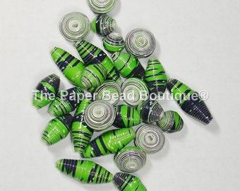 Paper Beads, Loose Handmade Supplies Seattle Seahawks Argyle Variety