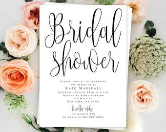 Bridal shower template Bridal shower invitation instant download Boho bridal shower invitation printable Garden bridal shower invitation DIY