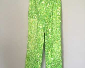 Vintage Lilly Pulitzer Pants Lime Green Slacks The Lilly