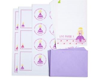 Personalised Princess Writing Set