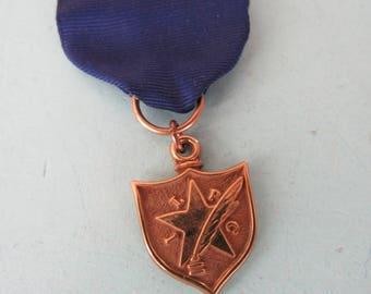 Vintage ILPC Interscholastic League Press Medal Liberty Free Shipping
