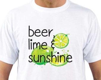 Beer, Lime and Sunshine T-shirt