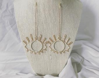 Eye earrings boho wire