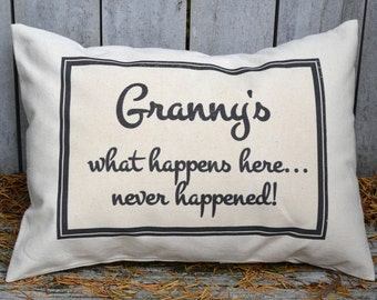 Personalized Mother's Day, Father's Day, mom gift, grandparent gift, hard to buy for, grandparent pillow, grandmother, gift for her