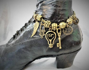 Steampunk Boot Jewelry  Bracelet Anklet #3
