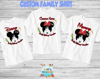 Family disney world shirts 2018, Disney Family Shirts, Matching Family Disney Shirts, Personalized Disney Shirts for Family  2018 des59