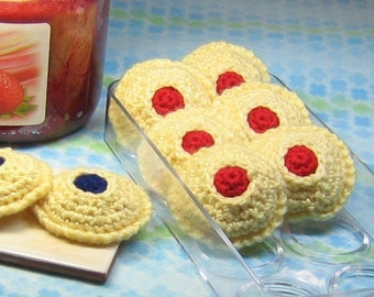 Thumbprint Cookies Crochet Pattern - Instant PDF Download