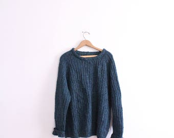 Loose Teal Knit Sweater