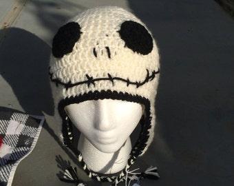 Skeleton ear flap hat