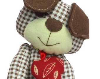Dog Sewing Pattern Scruffy The Stuffed Doggie Pdf Sewing