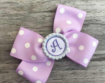 Initial Hair Bow / Personalized Bow