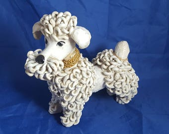 Large Vintage Spaghetti Poodle Made in Italy