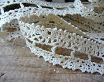 Natural Cream Ladder Stitch Cluny Lace