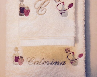 Pair of embroidered towels