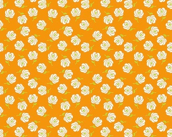 Primavera Buds in Tangerine Cotton Fabric by Patty Young for Riley Blake