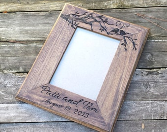 Personalized picture frame, wedding photo frame, wedding picture frame, wooden picture frame, wedding frame, personalized photo frame, gift