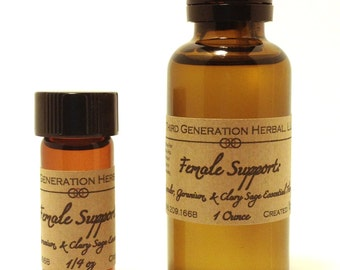 Female Support: Lavender, Geranium, & Clary Sage Essential Therapy