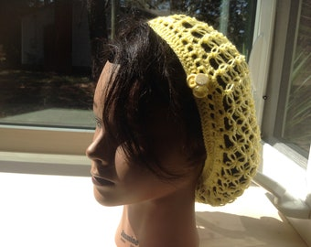 Snood 'rustique', yellow - ready