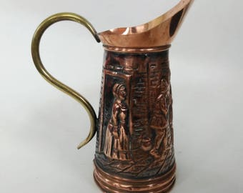 Vintage Copper and Brass Pitcher