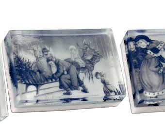Vintage Christmas collection (E) 3 - 4 oz. bath bars