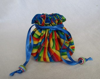 Jewelry Bag - Medium Size - Jewelry Tote - Drawstring Pouch - UP, UP and AWAY