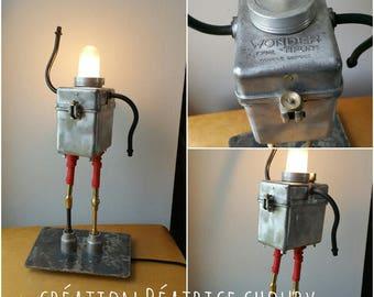 Robot lamp upcycled Wonder Tifón N3