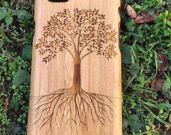 Colossians 2:7 - Tree - iPhones SE 5, 6s, 6+, 7, 7+, 8, 8+,X- GALAXY s5, s6, s6 edge, s6 edge +, S7, S7 Edge, S8, S8 Plus, Note, wood cases