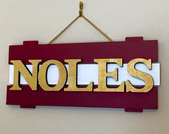 FSU Florida State Seminoles Noles wood sign