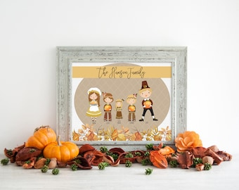 Thanksgiving Themed Family Portrait