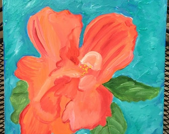 Hibiscus - 16x20 - Ready to Hang