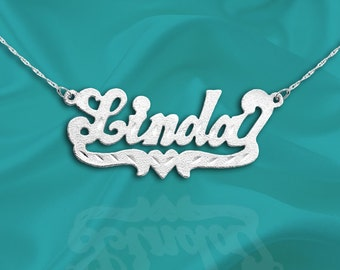 Custom Name Necklace - Sterling Silver - Personalized Name Necklace - Made in USA