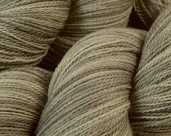 Hand Dyed Lace Yarn, Lace Weight Superwash Merino Wool - Silver Lining - Tonal Light Grey Gray
