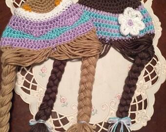 Pigtail hat