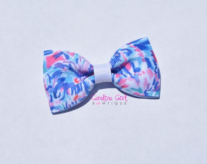 """Cabanna Cocktail ~ 3"""" Hair Bow Tuxedo Bow ~ Lilly Inspired ~ Simple Bow ~ Boutique Bow for Babies Toddlers ~ Girls Hair Bows"""