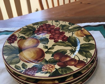 Waverly Garden Room Floral Manor Salad Plates 8 1 4 Set
