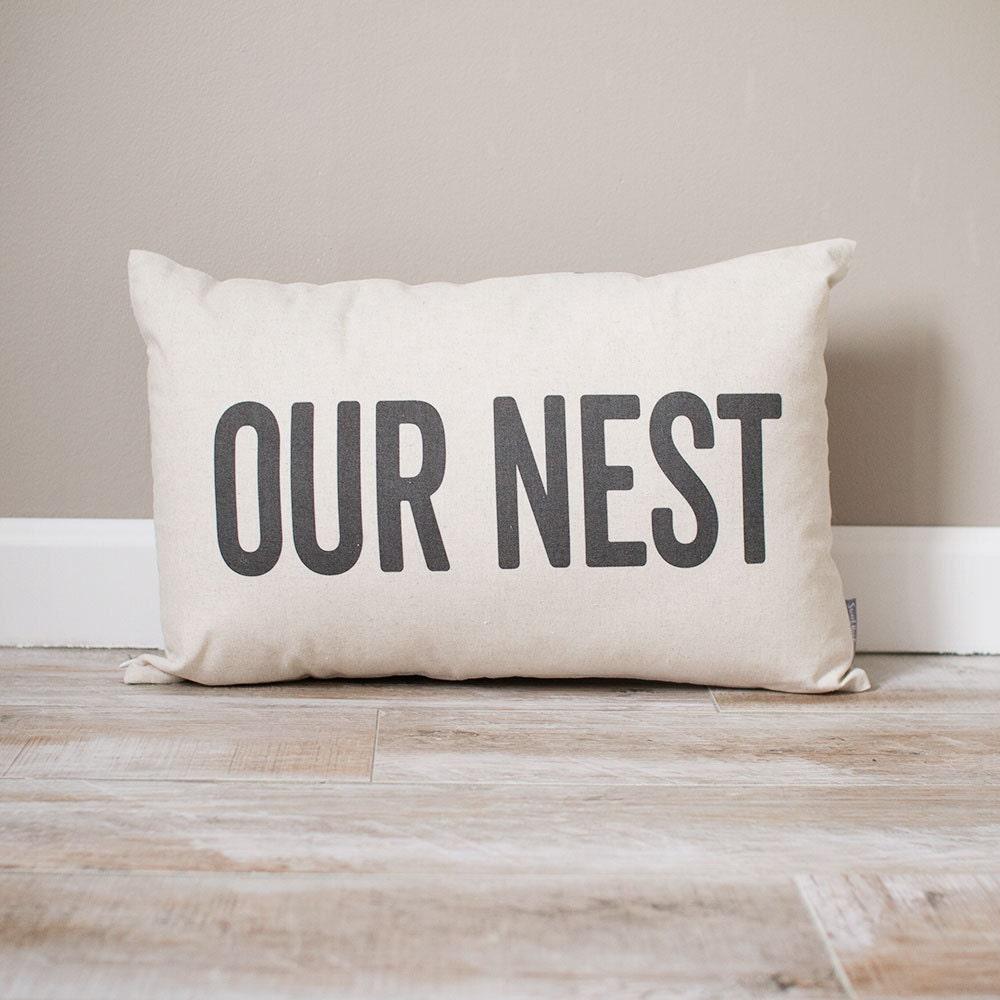 Our Nest Pillow Rustic Decor Home Decor Rustic Decor