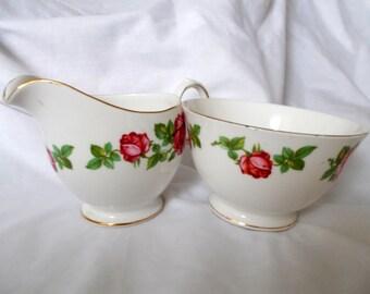 Sugar Bowl and Creamer Set by Gainsborough Bone China  ***NOW REDUCED***