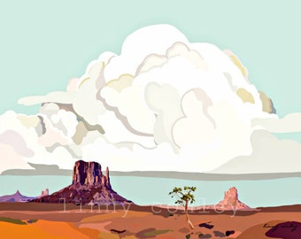 Monument Valley Landscape 14x11