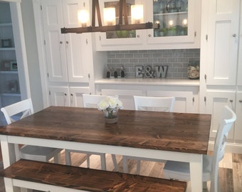 Harvest Kitchen Table Solid wood farmhouse table farmhouse dining table 6 solid wood farmhouse table farmhouse dining table farmhouse kitchen table built workwithnaturefo