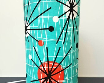 Atomic Fabric Lamp, in Turquoise