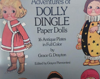 Dolly Dingle Paper Dolls/Grace G.Drayton/16 Antique Plates/Pages In Full Color/New Z