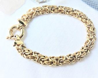 Gold over  Sterling Silver Bracelet