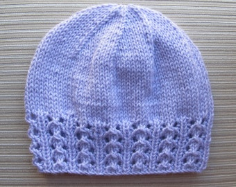 """Knitting Pattern #158 Hat """"Zhanna""""  with a Lace Border for a Lady"""