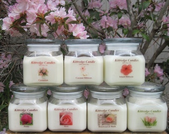 PINK FLOWER COLLECTION: One 10-oz Soy Jar Candle (15% discount)