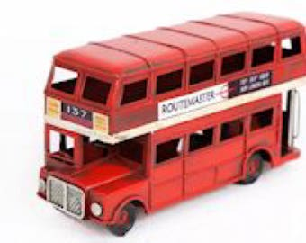 Metal London Bus Ornament