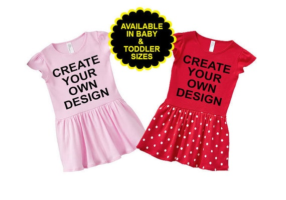 Custom Design, Create Your Own Girls Dress, Toddler Dress, Custom Toddler Dress, Personalized Toddler Dress, Custom Infant Dress. Baby Dress