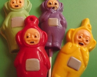 Teletubbies Chocolate Candy Lollipops