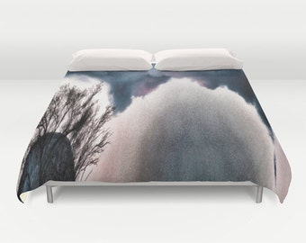 The Sky Is Falling Bedding, Cloudy Sky Duvet Cover,Indigo Blue Decor, Comforter Cover, Beach, Modern Duvet Cover, Twin, Full, Queen, King