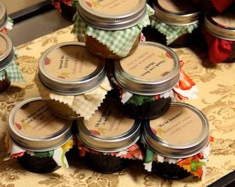 12 Jam or Jelly Mason Jar party favors
