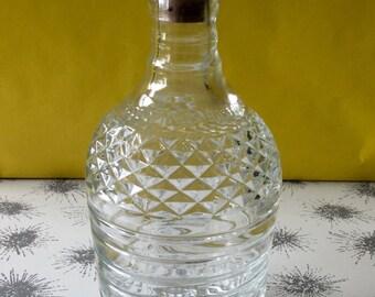 Unique Midcentury Vintage Glass Decanter